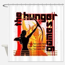 Personalize Girl On Fire Shower Curtain
