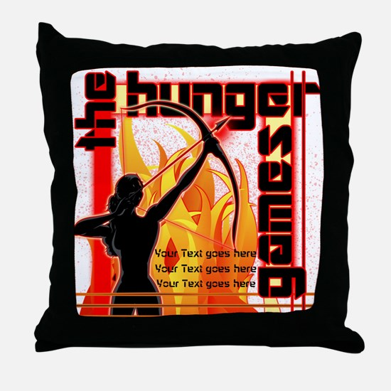 Personalize Girl on Fire Throw Pillow