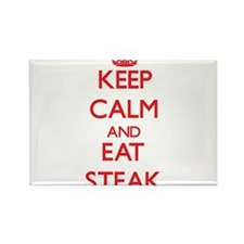 Keep calm and eat Steak Magnets