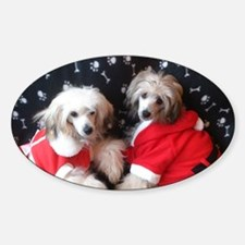 Christmas Chinese Crested Powder Pu Decal