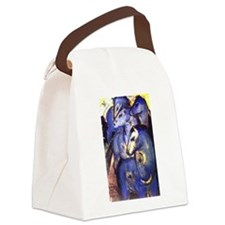 Blue Horses Canvas Lunch Bag