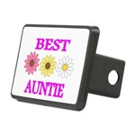 BEST AUNTIE WITH FLOWERS Hitch Cover