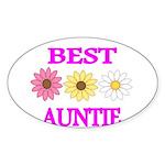 BEST AUNTIE WITH FLOWERS Sticker