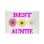 BEST AUNTIE WITH FLOWERS Magnets