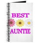 BEST AUNTIE WITH FLOWERS Journal