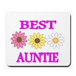 BEST AUNTIE WITH FLOWERS Mousepad
