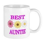 BEST AUNTIE WITH FLOWERS Mugs