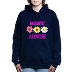 BEST AUNTIE WITH FLOWERS Hooded Sweatshirt
