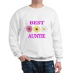 BEST AUNTIE WITH FLOWERS Sweatshirt