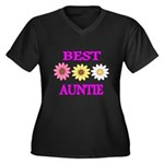 BEST AUNTIE WITH FLOWERS Plus Size T-Shirt