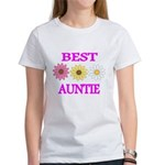 BEST AUNTIE WITH FLOWERS T-Shirt