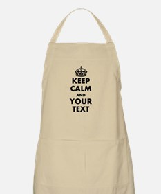 Personalized Keep Calm Apron | Khaki Beige