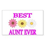 BEST AUNT EVER WITH FLOWERS 3 Sticker