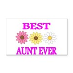 BEST AUNT EVER WITH FLOWERS 3 Rectangle Car Magnet