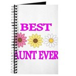BEST AUNT EVER WITH FLOWERS 3 Journal