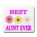 BEST AUNT EVER WITH FLOWERS 3 Mousepad