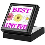 BEST AUNT EVER WITH FLOWERS 3 Keepsake Box