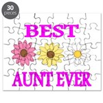 BEST AUNT EVER WITH FLOWERS 3 Puzzle