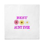 BEST AUNT EVER WITH FLOWERS 3 Queen Duvet