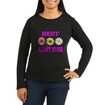 BEST AUNT EVER WITH FLOWERS 3 Long Sleeve T-Shirt