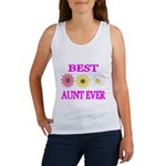 BEST AUNT EVER WITH FLOWERS 3 Tank Top