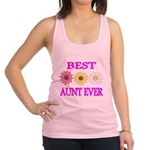 BEST AUNT EVER WITH FLOWERS 3 Racerback Tank Top