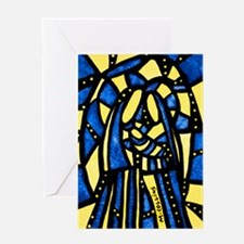 Abstract Holy Family Nativity Scene Greeting Cards