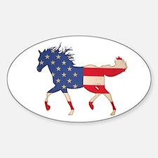 American Flag Horse Decal