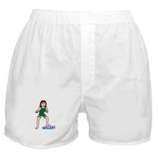 Woman Wrestler Red Hair Boxer Shorts