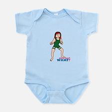 Woman Wrestler Red Hair Infant Bodysuit