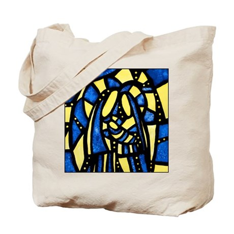 Holy Family Nativity Abstract Tote Bag
