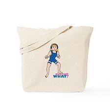 Woman Wrestler Blonde Hair Tote Bag