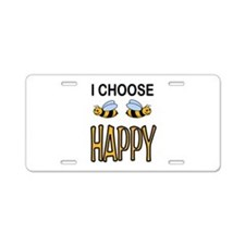 BE HAPPY Aluminum License Plate