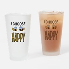 BE HAPPY Drinking Glass