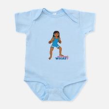 Woman Wrestler Dark Infant Bodysuit