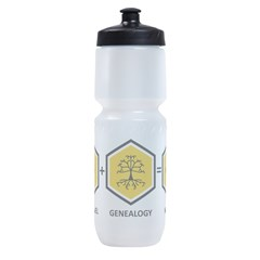 Time Travel + Genealogy = Happiness Sports Bottle