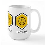 Time Travel + Genealogy = Happiness Large Mug