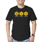 Time Travel + Genealogy = Happiness Men's Fitted T