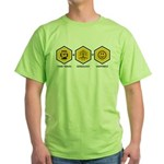 Time Travel + Genealogy = Happiness Green T-Shirt