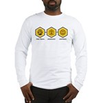 Time Travel + Genealogy = Happiness Long Sleeve T-