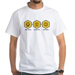 Time Travel + Genealogy = Happiness White T-Shirt