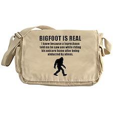 Bigfoot Is Real Messenger Bag