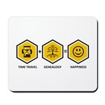 Time Travel + Genealogy = Happiness Mousepad