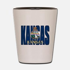 Kansas Flag Shot Glass