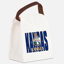 Kansas Flag Canvas Lunch Bag