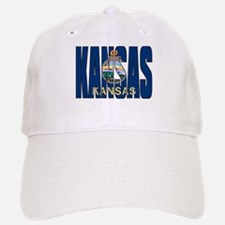 Kansas Flag Baseball Baseball Baseball Cap