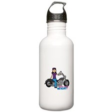 Biker Girl Medium Water Bottle