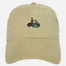 Biker Girl Light/Blonde Baseball Baseball Cap