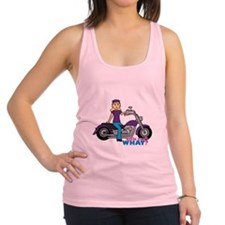 Biker Girl Light/Blonde Racerback Tank Top