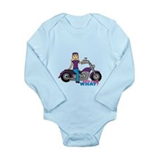 Biker Girl Light/Blonde Long Sleeve Infant Bodysui